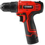 Casals Drill Cordless With Extra Battery Plastic Red 10mm 12V CSC12